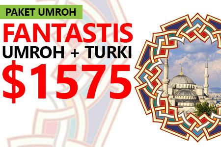 ARFA TOURS UMROH PLUS TURKI HANYA USD 1575