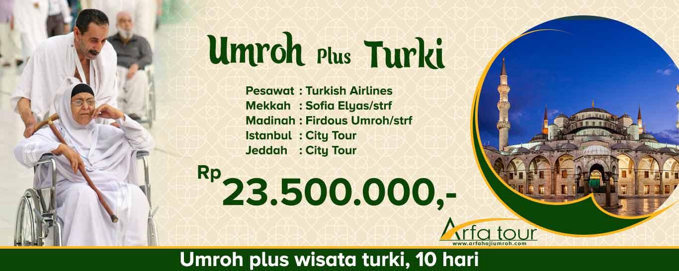 paket umroh plus turki murah - arfa tour