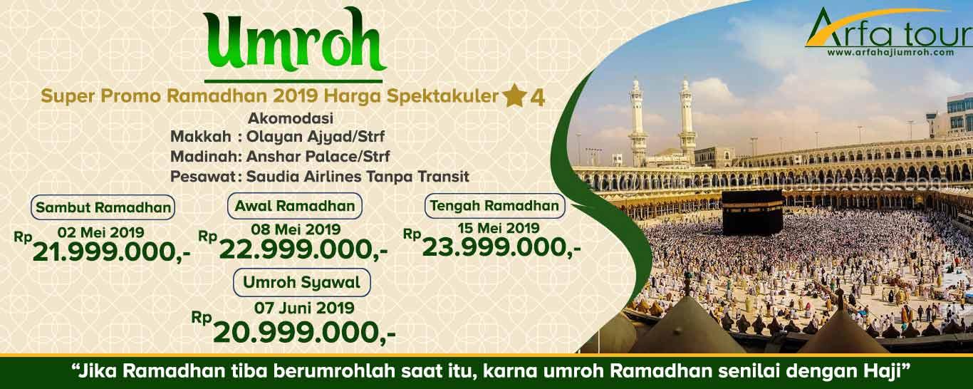 paket umroh ramadhan 2019 murah - arfa tour