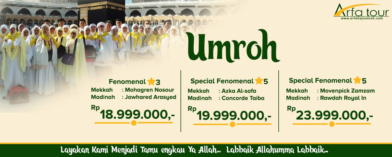 Paket Umroh Murah Arfa Tour