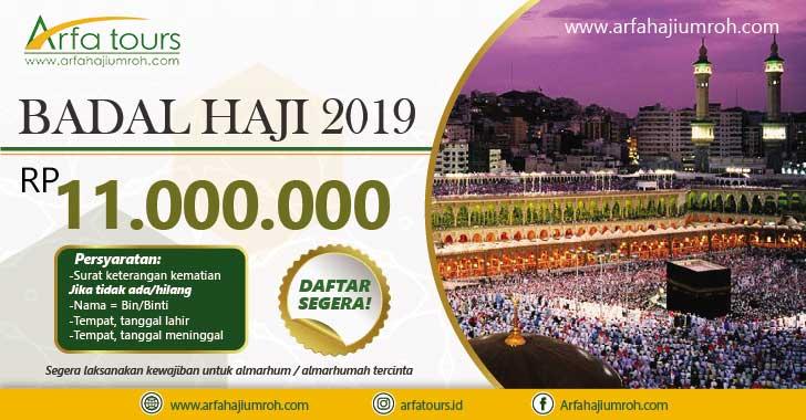 paket badal haji 2019 murah arfa tour