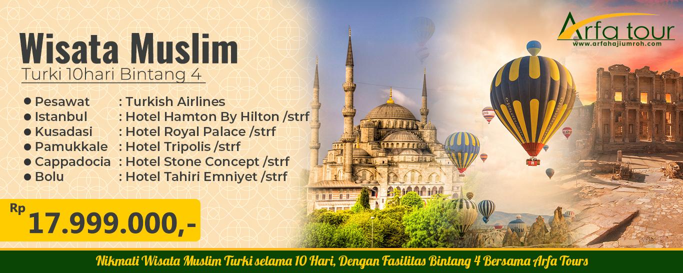 biaya paket umroh wisata muslim turki arfa travel