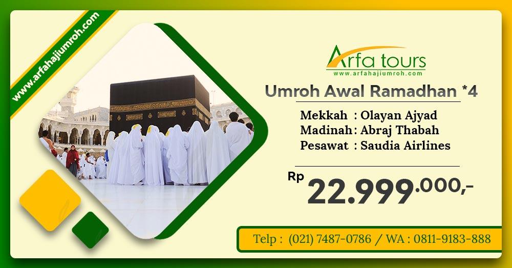 umroh awal ramadhan 2019 arfa tour