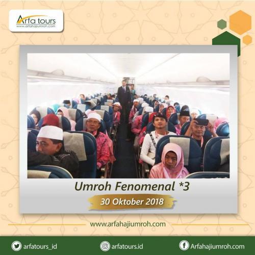 Paket Umroh Fenomenal Bintang 3 - 30 Oktober 2018